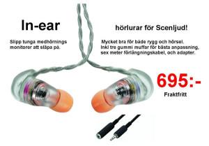 IN-EAR Hörlur för Scenen